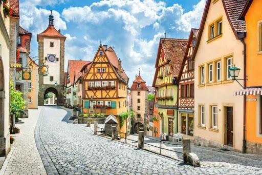 Pemandangan Romantic Road Jerman